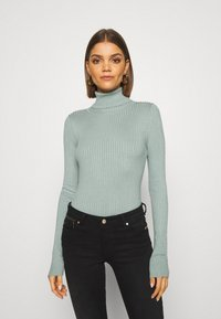 Even&Odd - BASIC- RIBBED TURTLE NECK - Jumper - light green - 0