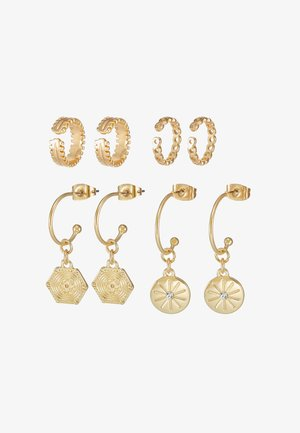PCGABRILY EARRINGS 4 PACK - Pendientes - gold-coloured