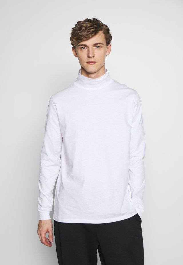 ROLLNECK HANGER - Long sleeved top - white