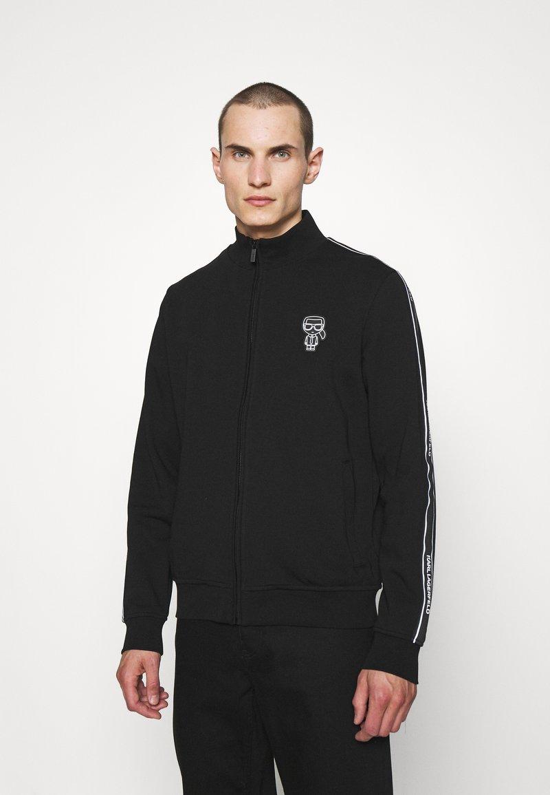 KARL LAGERFELD - ZIP JACKET - Zip-up sweatshirt - black
