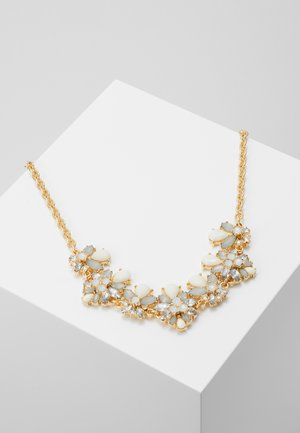 PCKATHARINA STONE NECKLACE - Náhrdelník - gold coloured/clear/white