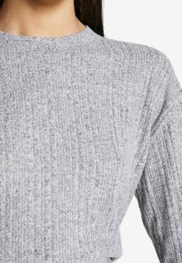 Topshop Tall - SPLIT BACK CUT AND SEW - Pullover - grey - 4