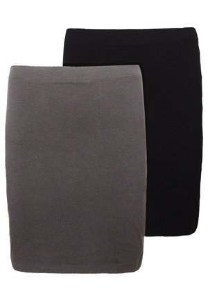 2 PACK - Mini skirt - grey/black