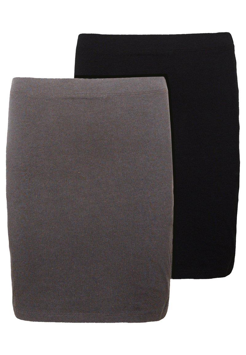 Even&Odd - 2 PACK - Minifalda - grey/black