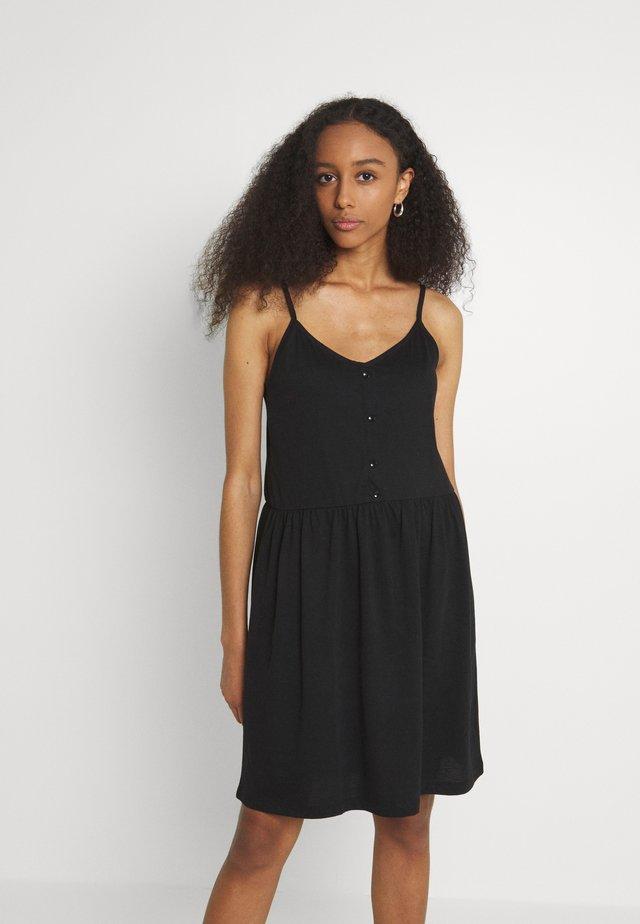 VIDREAMERS SINGLET SHORT DRESS - Žerzejové šaty - black