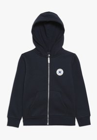 Converse - CHUCK PATCH FULL ZIP HOODIE  - Zip-up hoodie - obsidian - 0