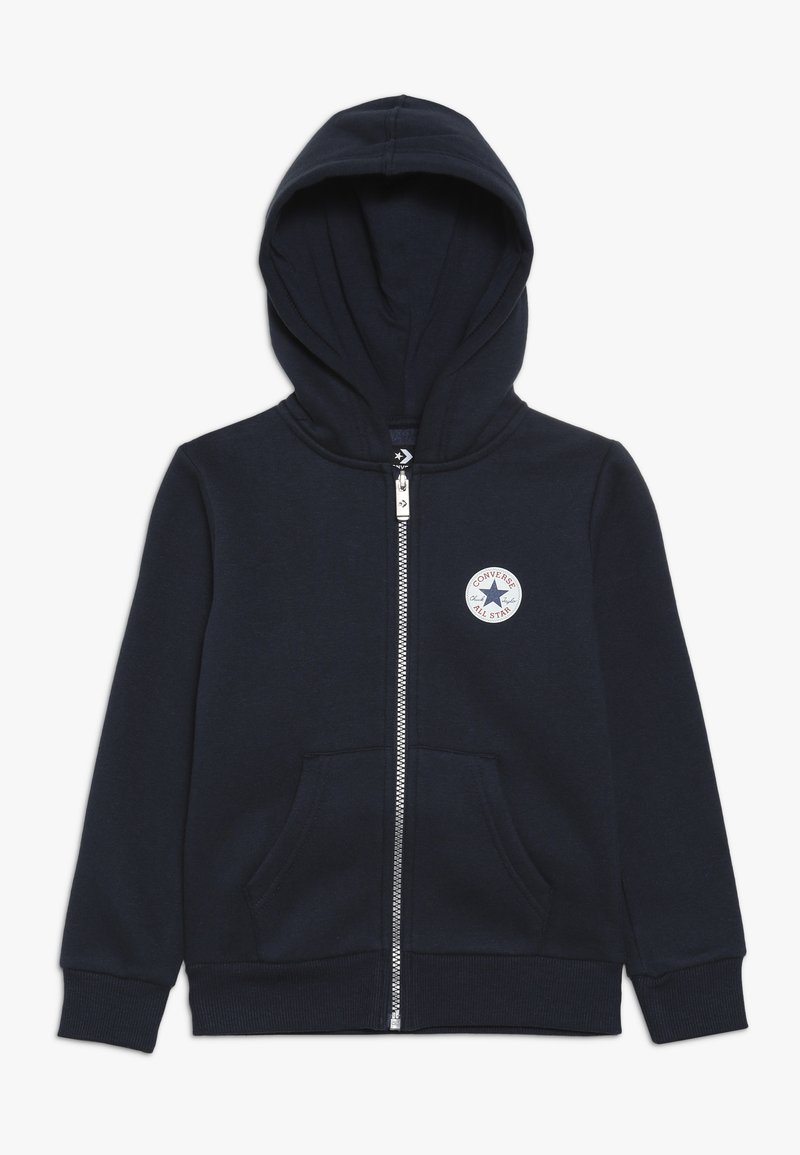Converse - CHUCK PATCH FULL ZIP HOODIE  - Zip-up hoodie - obsidian