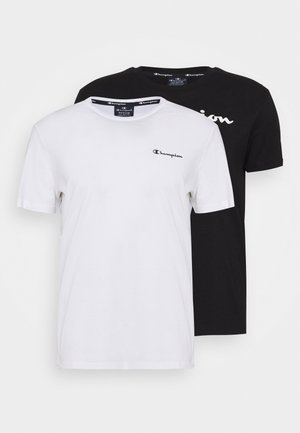 CREW NECK 2 PACK - T-shirt imprimé - black