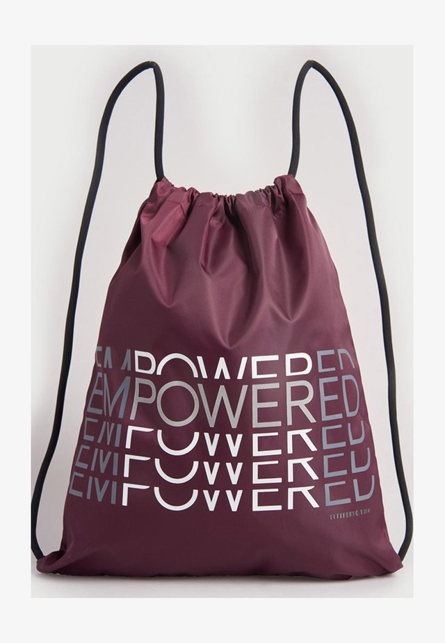 Drawstring sports bag - mulled plum