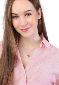 Lucardi - MEDAILLON HART  - Necklace - silver-coloured - 0