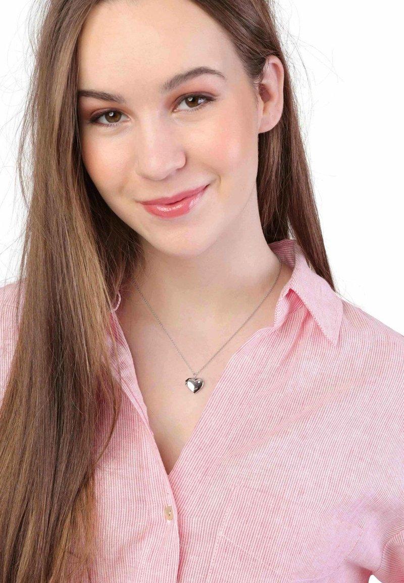 Lucardi - MEDAILLON HART  - Necklace - silver-coloured