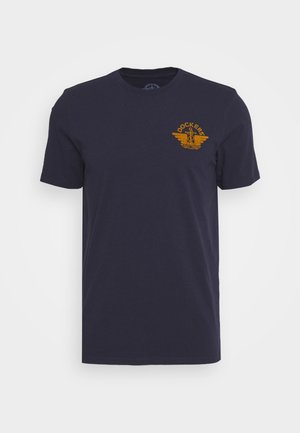 LOGO TEE - T-shirt print - pembroke/dark ginger