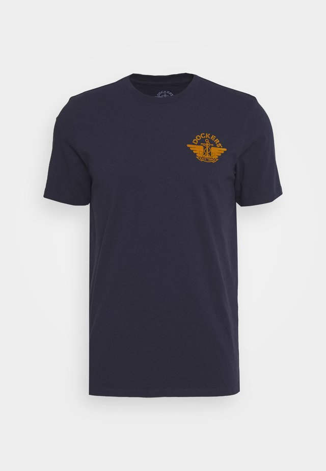 LOGO TEE - T-shirt z nadrukiem - pembroke/dark ginger