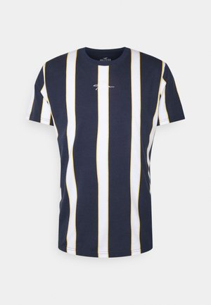 CREW STRIPES - T-shirt z nadrukiem - navy vertical
