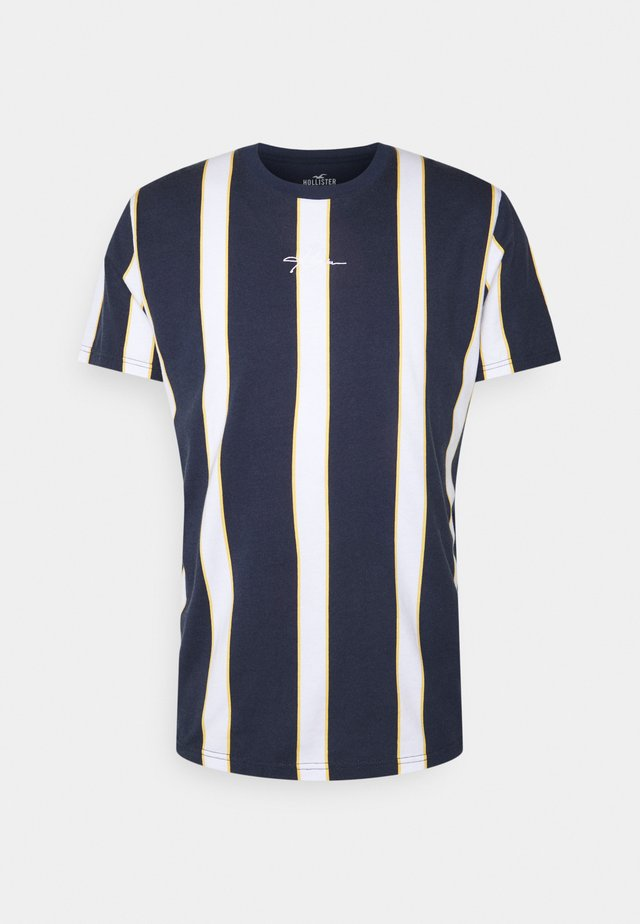 CREW STRIPES - T-shirt med print - navy vertical