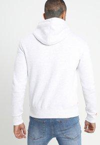Superdry - LABEL ZIPHOOD - Zip-up hoodie - ice marl - 2