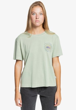 STAR SLIDE - Print T-shirt - pistachio