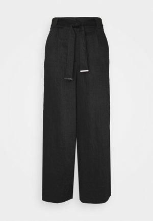VICALANTHA WIDE PANTS - Bukser - black