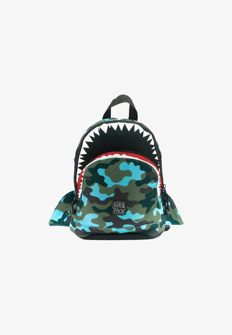 pick & PACK - SHARK - Rucksack - camo hellblau