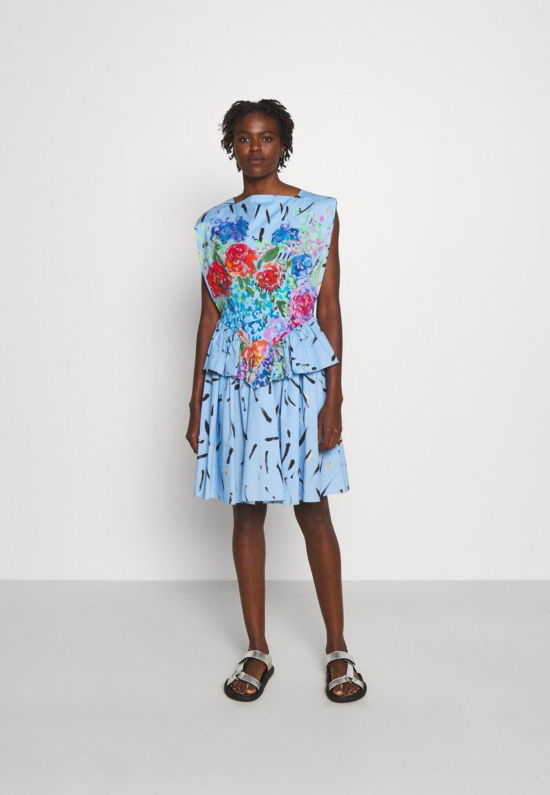 Christopher Kane - FLORAL CUPCAKE MINI DRESS - Vestito elegante - blue