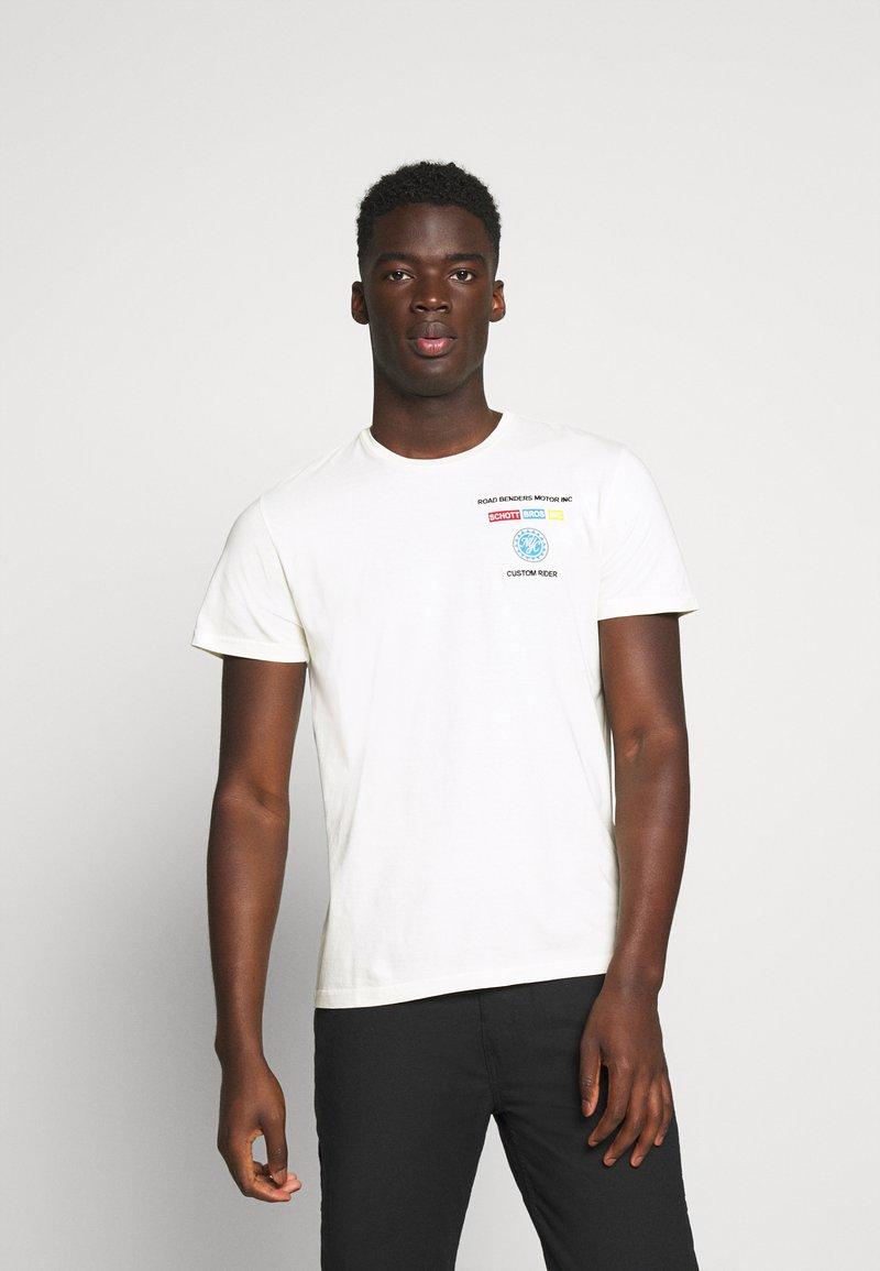 Schott - Print T-shirt - off white
