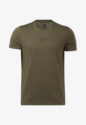 TAPE TEE - Print T-shirt - army green