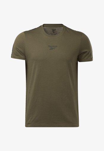 TAPE TEE - Print T-shirt - army green