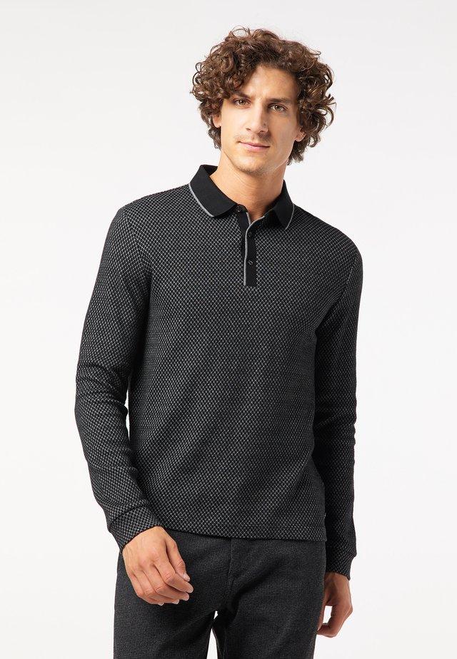 RAUTENMUSTER - Poloshirt - schwarz