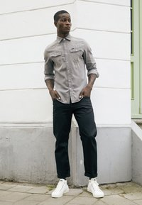 G-Star - 3301 SLIM SHIRT L\S FADED DUST GREY MEN - Camicia - faded dust grey - 4