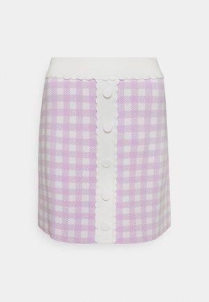 JIMMY - Mini skirt - parme