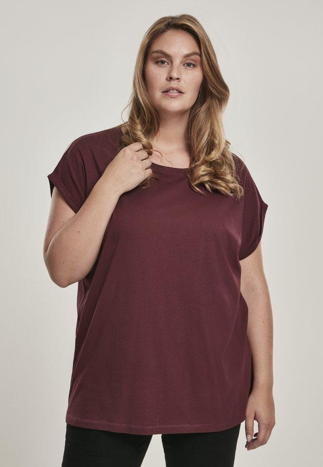 EXTENDED SHOULDER TEE - Basic T-shirt - redwine