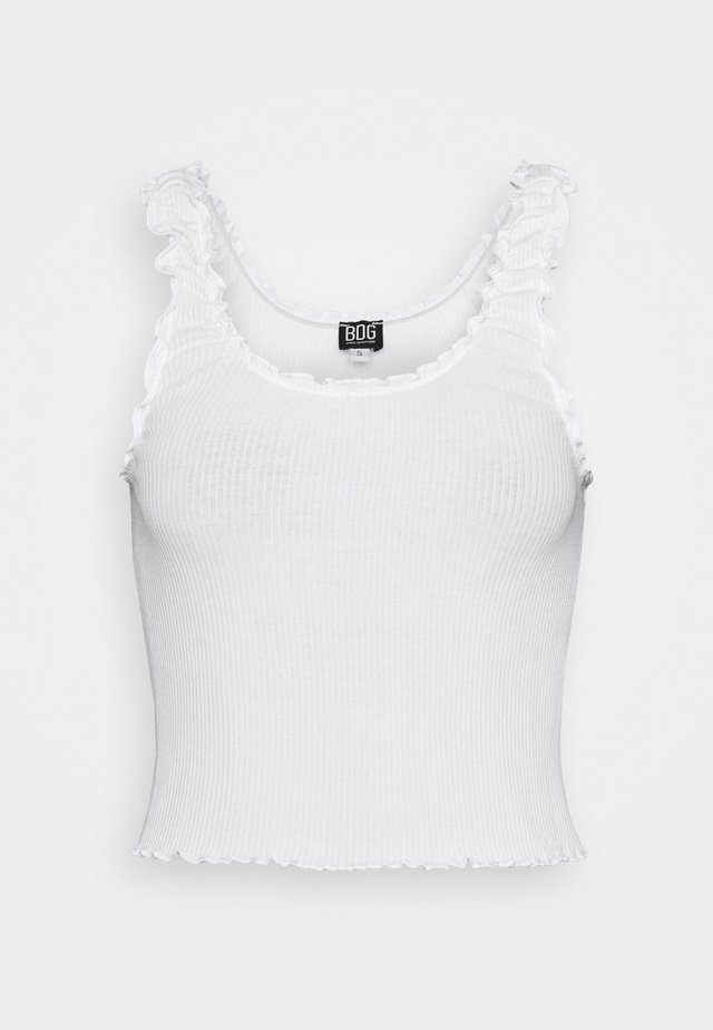 LETTUCE EDGE TANK - Top - ecru