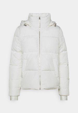 ELASTIC LOGO SORONA SHORT JACKET - Winter jacket - white