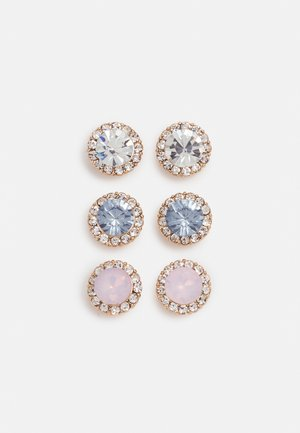 GWOSA 3 PACK - Earrings - light blue/blush/clear/gold-coloured