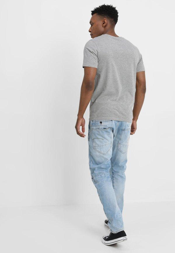 Jack & Jones JJECORP LOGO CREW NECK - T-shirt z nadrukiem - light grey melange/jasnoszary melanż Odzież Męska SEPN