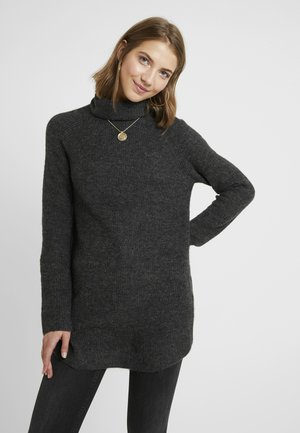 PCELLEN LONG - Strickpullover - black