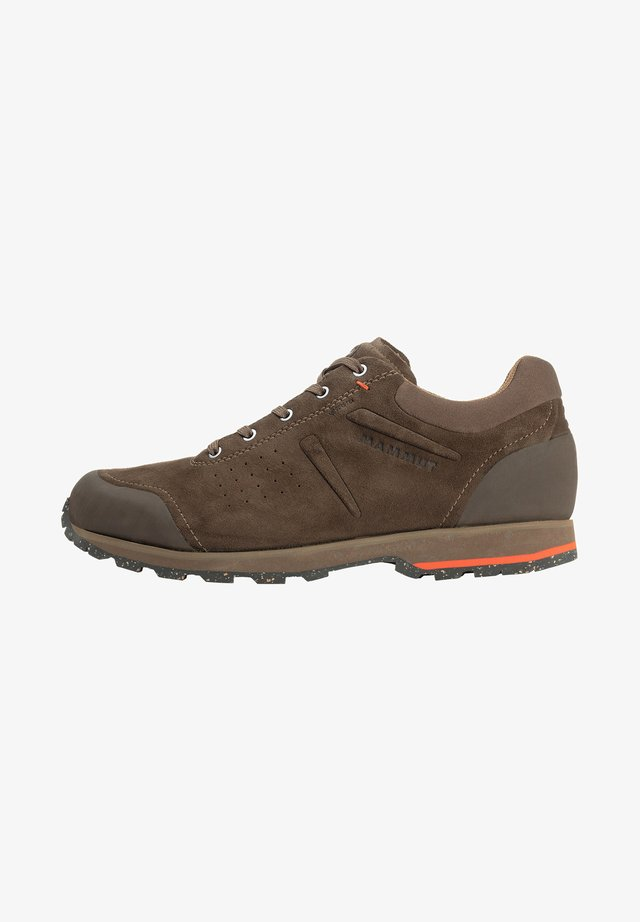 ALVRA II LOW  - Hiking shoes - dark kangaroo-dark sunrise