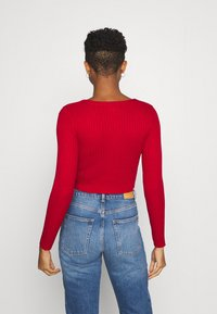 Monki - ALIANA CARDIGAN - Cardigan - red - 2