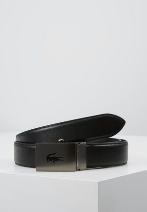 CURVED STITCHED EDGES - Belt - black