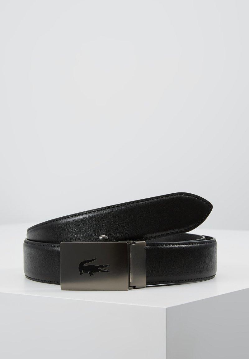 Lacoste - CURVED STITCHED EDGES - Pásek - black