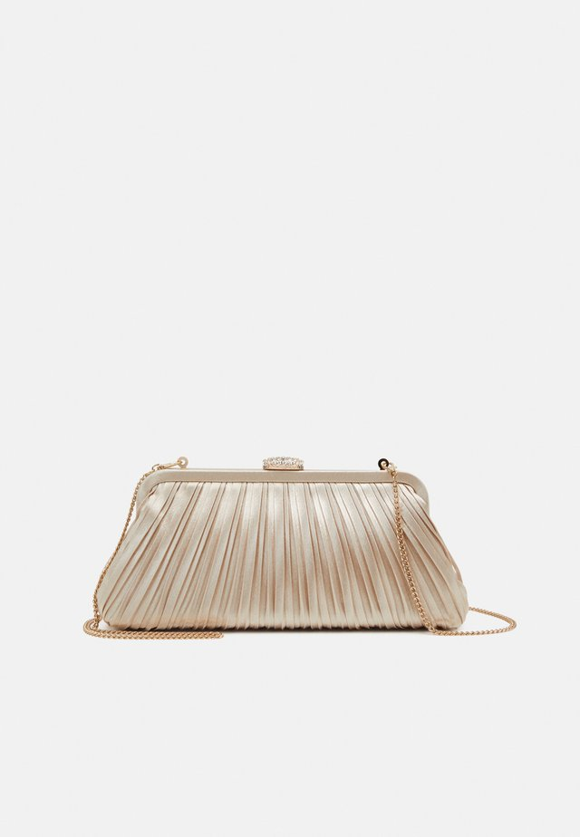LISA PLEATED FRAME POUCH - Pochette - champagne
