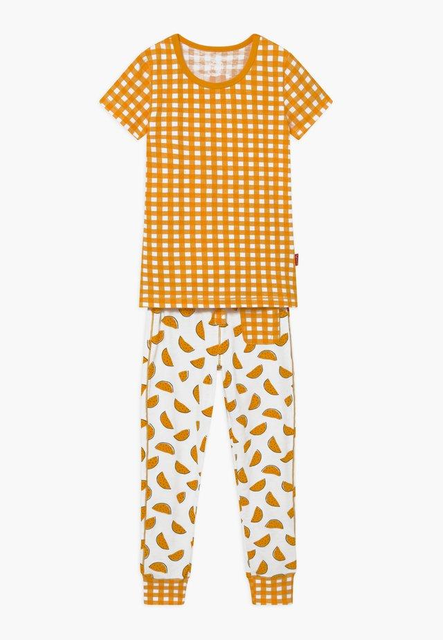 GIRLS - Pyjama set - yellow/white