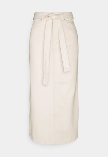 SLFALMA LONG - Pencil skirt - creme