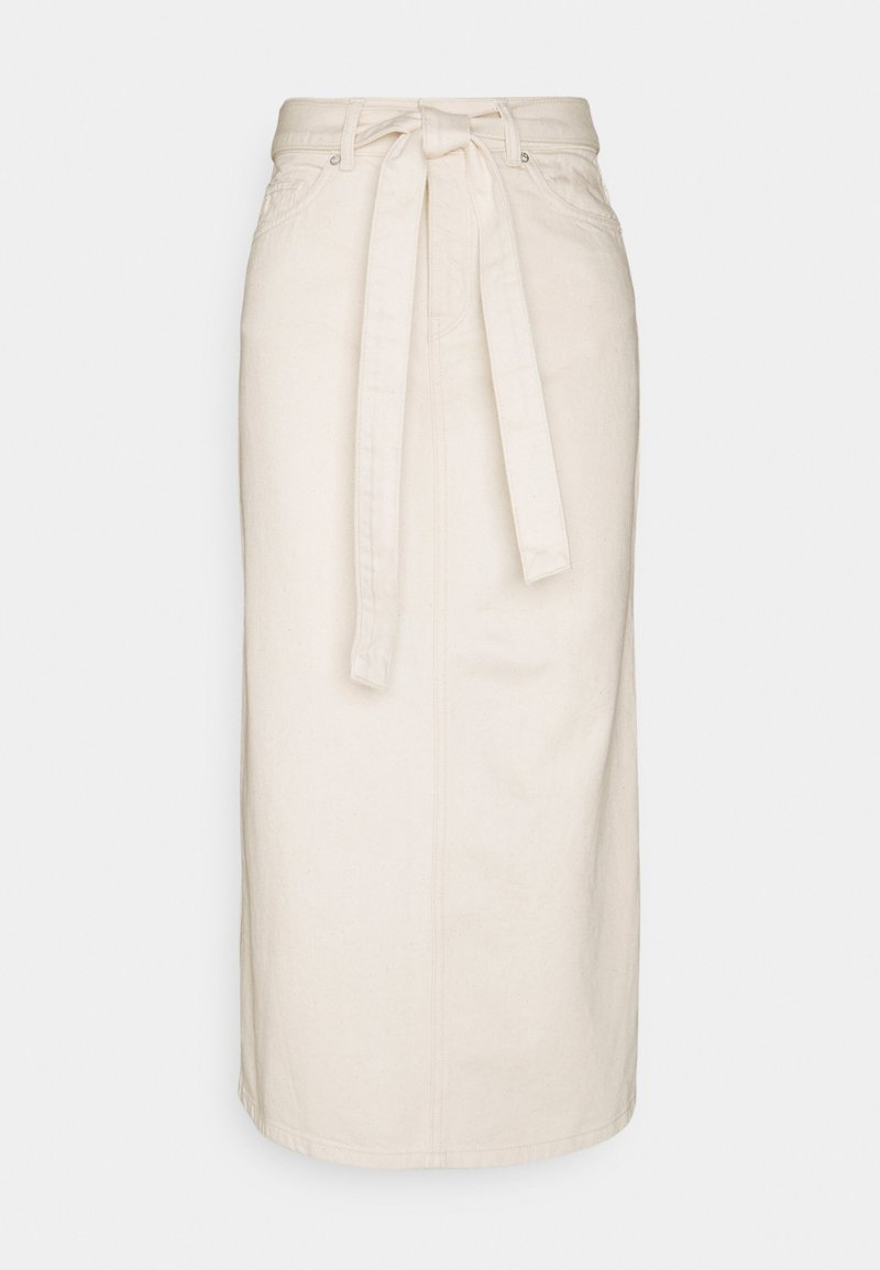 Selected Femme - SLFALMA LONG - Pencil skirt - creme