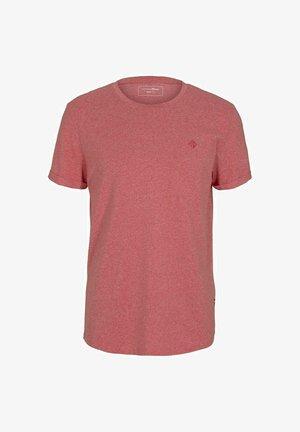 Basic T-shirt - normal red melange