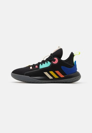 HARDEN STEPBACK 2 - Basketball shoes - core black/yellow/acid mint