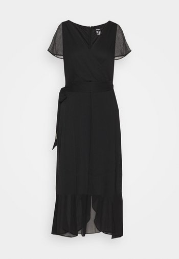 FLUTTER SLEEVE  - Day dress - black