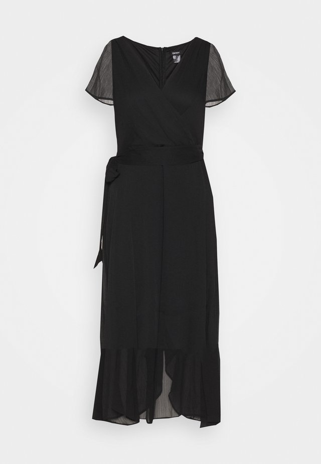 FLUTTER SLEEVE  - Robe d'été - black