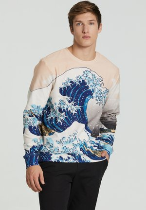 KANGAWA WAVE - Sweatshirt - beige