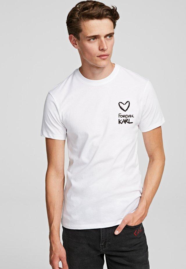 FOREVER  - T-shirt imprimé - white